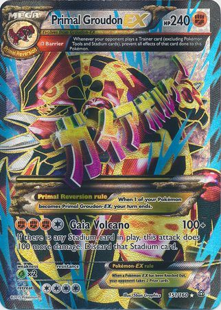 Primal Groudon Ex 151 160 Full Art Ultra Rare Xy