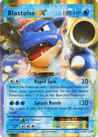 Blastoise Ex 21 108 Ultra Rare Xy Evolutions