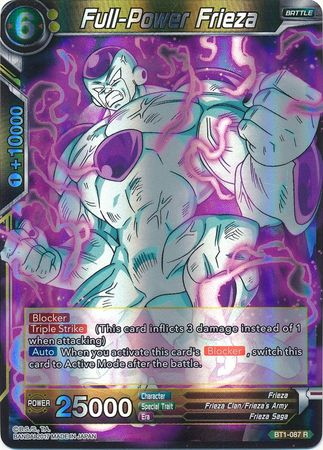 Full-Power Frieza - BT1-087 - Rare - Dragon Ball Super ...