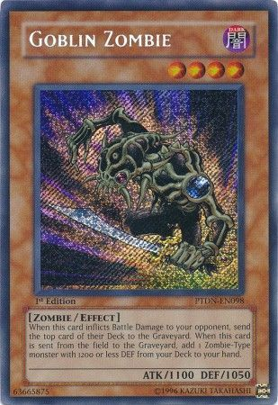 Goblin Zombie Ptdn En098 Secret Rare Phantom