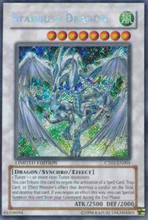 Stardust Dragon Ct05 En001 Secret Rare Yu Gi Oh