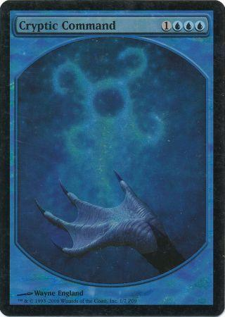 Cryptic Command - Textless Foil - Magic: The Gathering