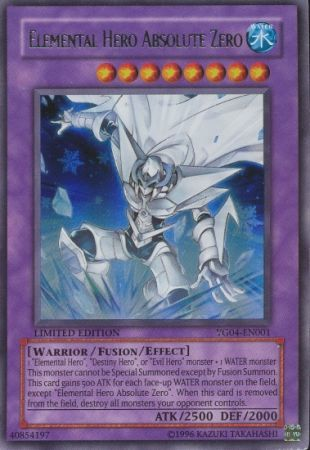 Elemental Hero Absolute Zero Yg04 En001 Ultra Rare