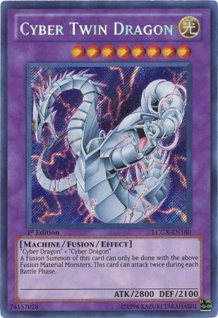 Cyber Twin Dragon - LCGX-EN180 - Secret Rare 1st Edition ...