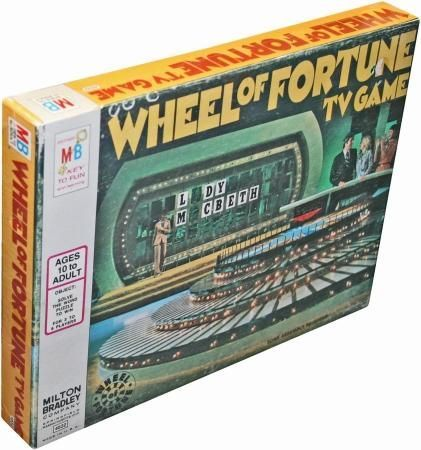 Wheel Of Fortune Tv Game board game (Milton Bradley ...