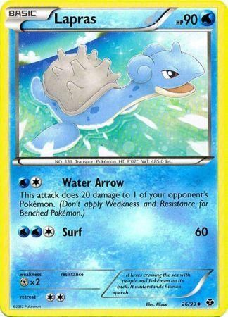 Lapras 26 99 Uncommon Black Amp White 4 Next