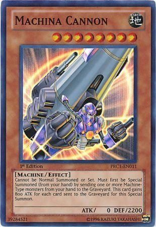 Machina Cannon Prc1 En011 Super Rare Yu Gi Oh Promo