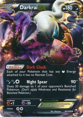 Darkrai Ex 63 108 Ultra Rare Black Amp White 5 Dark
