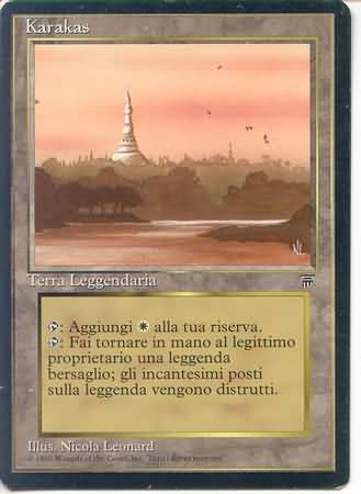Karakas Legends Italian Magic The Gathering