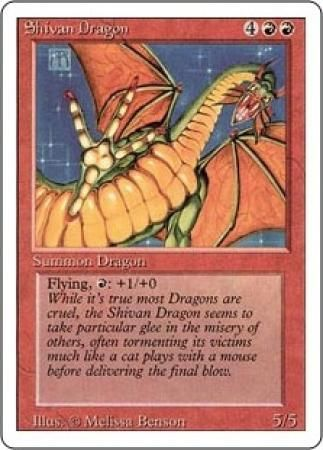 Shivan Dragon Revised 3rd Edition Magic Cards